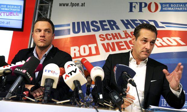 Johannes Gudenus und Heinz-Christian Strache brachten die Regierung zu Fall