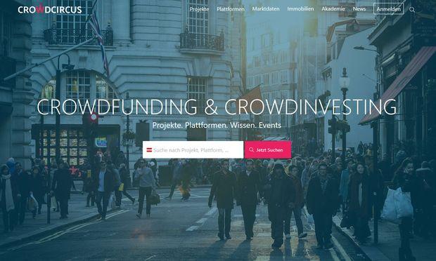 Screenshot Webseite: crowdcircus