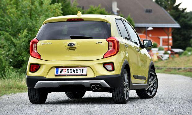 Gelb, klein, giftig: Der Kia Picanto ist ein größeres Gokart.