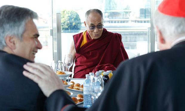 Faymann, Dalai Lama, Schönborn