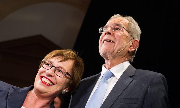 Doris Schmidauer mit Alexander Van der Bellen.