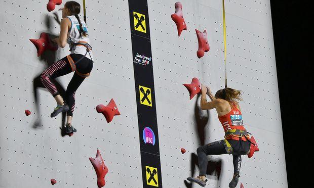 Duell im Speed-Klettern
