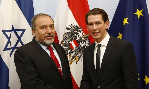 ISRAELISCHER  AUSSENMINISTER LIEBERMAN BEI AUSSENMINISTER KURZ