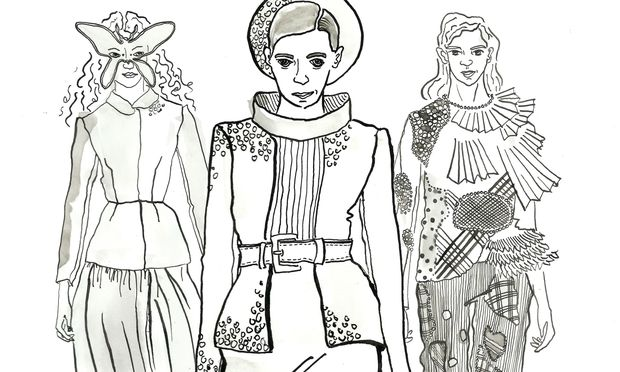 Looks von Dior, Chanel, Viktor & Rolf (v.l.n.r.).