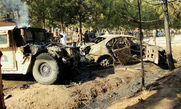 In Laschkar Gah detonierte eine Automombe der Taliban.