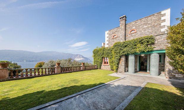 Die Villa der italienischen Designerfamilie Alessi am Lago Maggiore.
