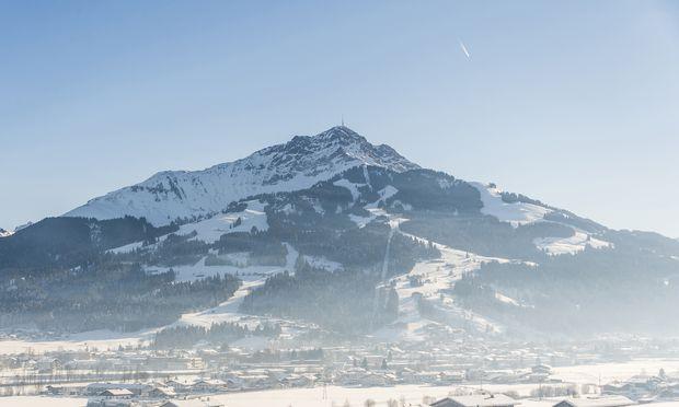 Schöne Aussicht auf das Kitzbüheler Horn vom Fuß des Wilden Kaisers.