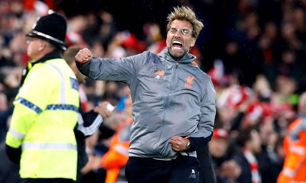 Liverpool v AS Roma UEFA Champions League Semi Final First Leg Anfield Liverpool manager Jur / Bild: imago/PA Images