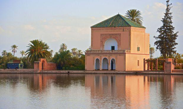 Der zauberhafte Pavillon im magischen Menara-Garten, angelegt zwischen 1156 und 1157.