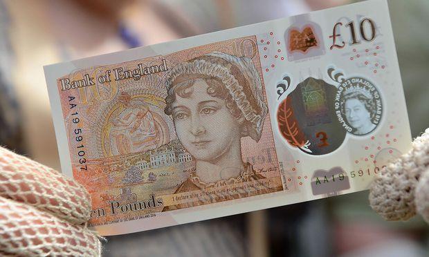 Jane Austen ziert die neue britische Zehn-Pfund-Note.