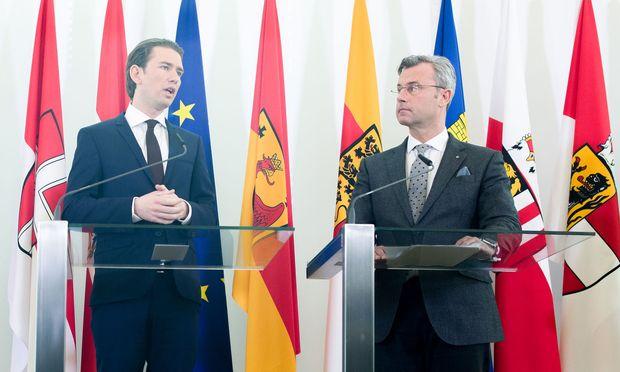 Sebastian Kurz und Norbert Hofer.