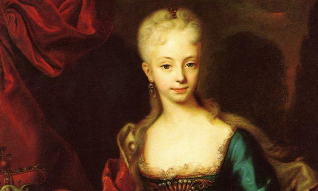 Maria Theresia als Mädchen, gemalt 1727. Die Thronfolge war noch in weiter Ferne.