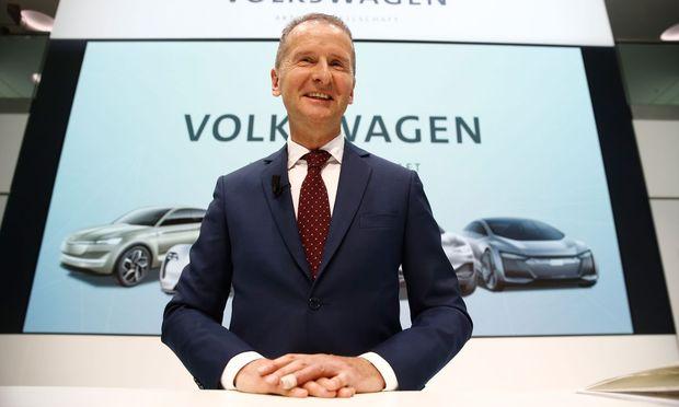 Der neue VW-Chef, Herbert Diess, soll das Steuer bei dem Autohersteller herumreißen.