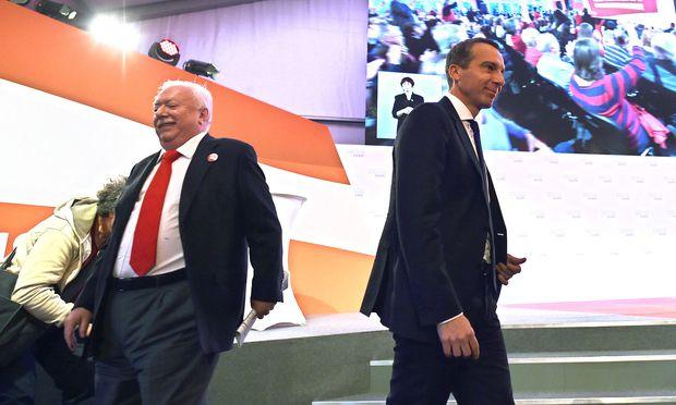 Bürgermeister Michael Häupl, Bundeskanzler Christian Kern (SPÖ)