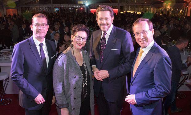Hans-Peter Weiss, Christine Marek, Harald Mahrer und Wolgang Gleissner.