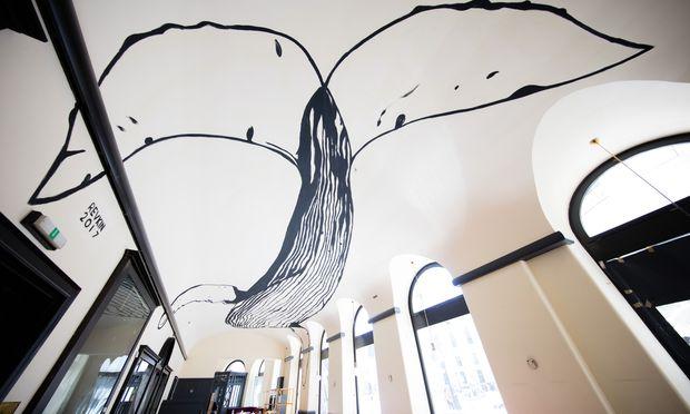 Aus dem Café Griensteidl wurde mit dem Rien eine Mischung aus Café, Bar, Restaurant und Ort für Kunst.