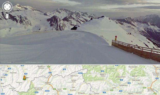 Google laesst oesterreichs Skigebiete