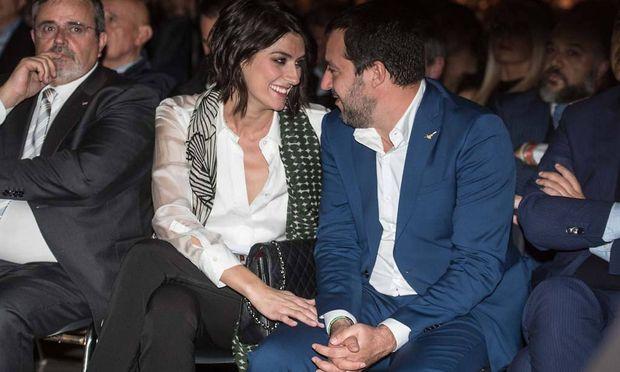 Matteo Salvini und Elisa Isoardi