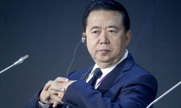 Meng Hongwei auf einem Archivbild aus dem vergangenen Juli