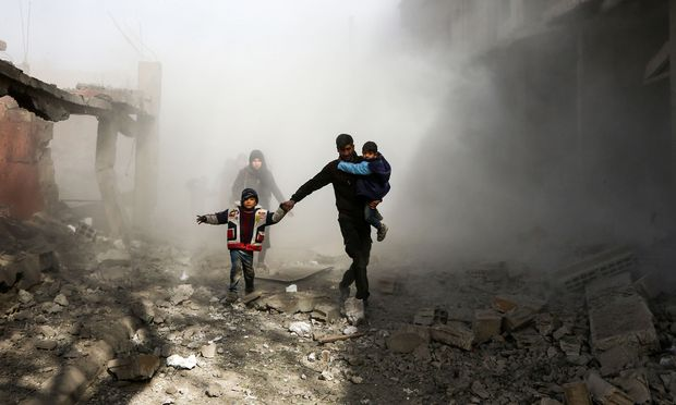 Angriff auf Ost-Ghouta. In dem Vorort der syrischen Hauptstadt Damaskus spitzt sich die humanitäre Lage zu.