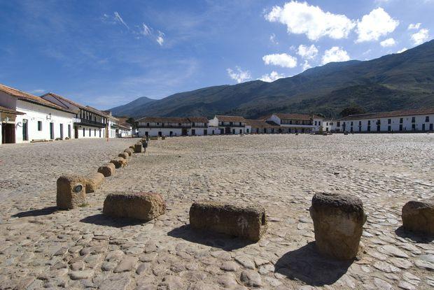 The Colonial town of Villa de Leyva Colombia South America PUBLICATIONxINxGERxSUIxAUTxONLY Copyrig