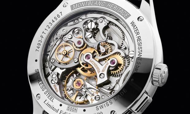Uhrmacherkunst. Das Handaufzugskaliber MB M13.21.