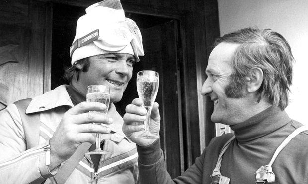 Befreundet, vereint: Skilegende Toni Sailer und Trainer Karl Kahr.