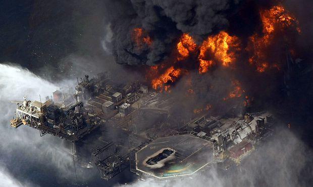 Die Ölplattform explodierte im April 2010