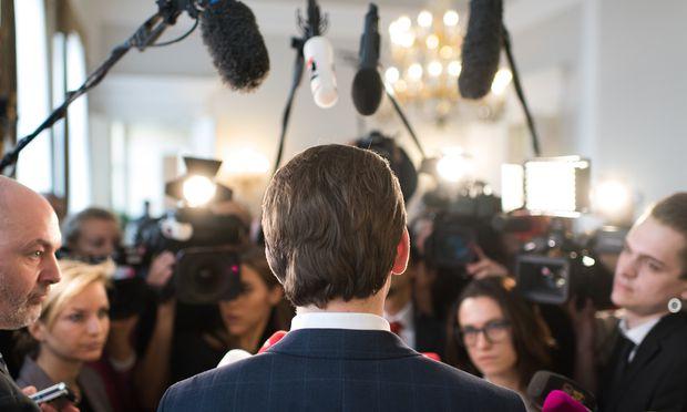 Medienkanzler Sebastian Kurz: kontrollierte Informationen.