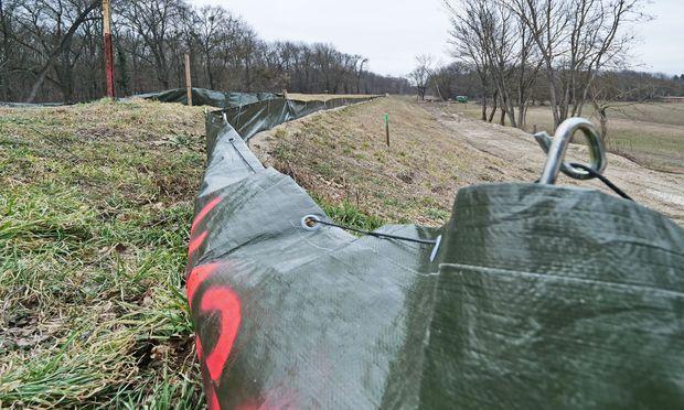 Amphibienschutz: Marchfeldschutzdamm bei Mühlleiten.