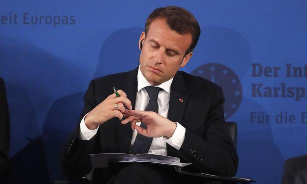 Das ist der echte Emmanuel Macron.