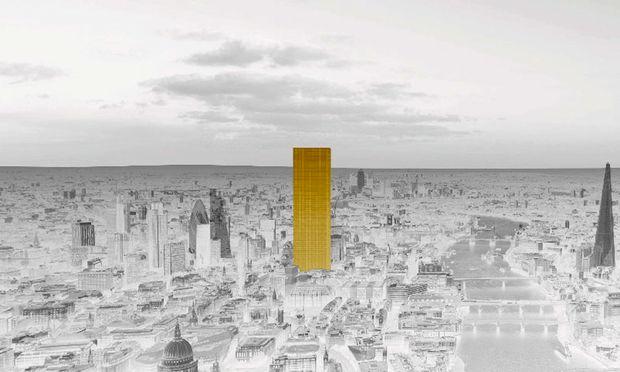 Klare Linie. Der Entwurf des vergoldeten Hochhauses The Ingot folgt den Ansprüchen der Finanzwelt: Investment in sich selbst.