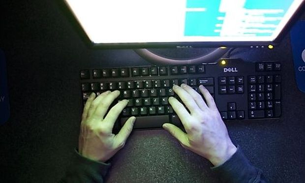 Michael Kidd works on a computer at ECPI University in Virginia Beach