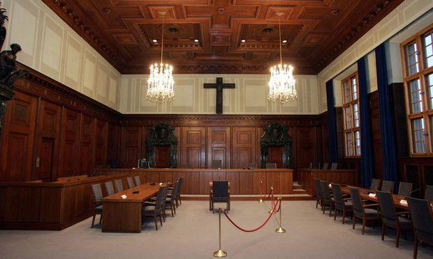 Der Saal 600 im Nürnberger Justizgebäude