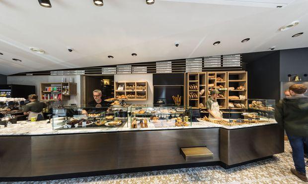 Beispiele modernen Shopdesigns: Brot-Verkaufslokal von Hannes Zieher.