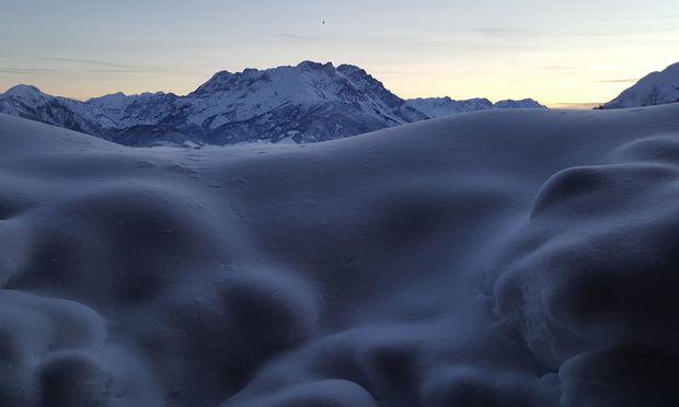 Blick aus dem Fenster, Mitte Jänner, beim höchsten Schneepegel.