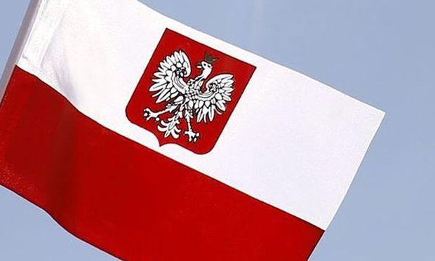 Polnische Flagge.