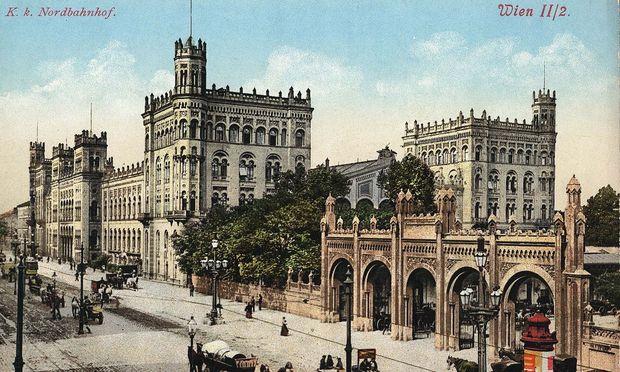 Der Nordbahnhof um 1900 – einst der wichtigste Bahnhof der Monarchie.