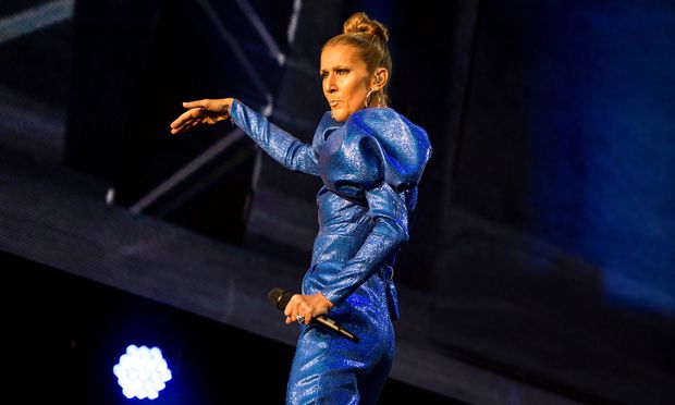 """""""You look beautiful, people of London"""": Céline Dion im Hyde Park."""
