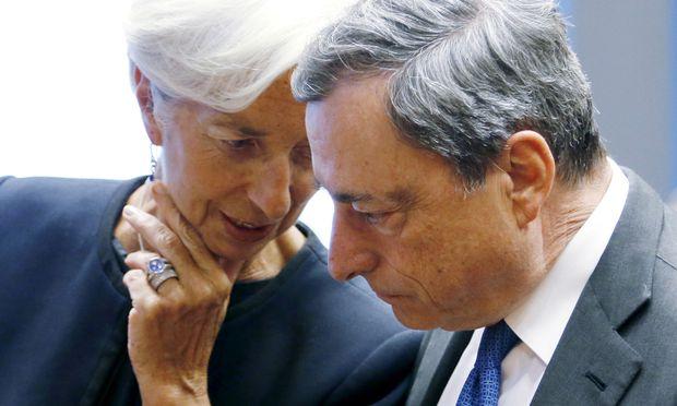 Christine Lagarde ist mit Mario Draghi auf einer Linie.