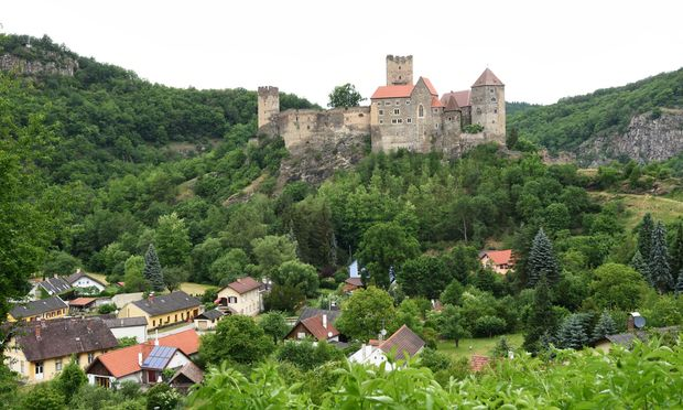 Die Burg Hardegg: mit 600 Metern  Umfang eine der imposanteren Burgen in Österreich.