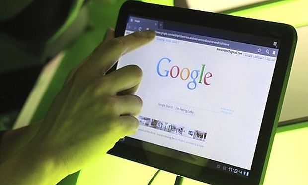 The Google home page is shown on Googles latest version of the Android operating system, Honeycomb,