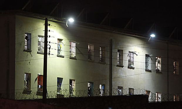 A building of Korydallos prison is seen in western Athens, Monday, Dec. 12, 2011
