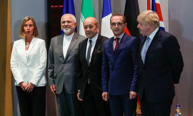 Die Außenminister von Deutschland, Frankreich, Großbritannien, des Irans haben gemeinsam mit der EU-Außenbeauftragen über die Zukunft des Iran-Deals gesprochen.