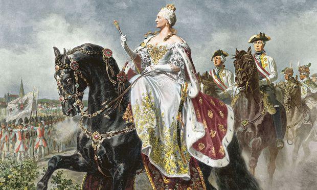 Maria Theresia lernte spät reiten – für Frauen war das damals noch eine ungewöhnliche Beschäftigung. Es machte ihr aber sehr viel Spaß, und sie wurde eine wilde Reiterin.