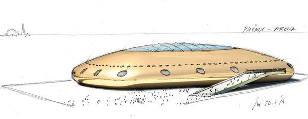 Ein Ufo, das in Wien landet