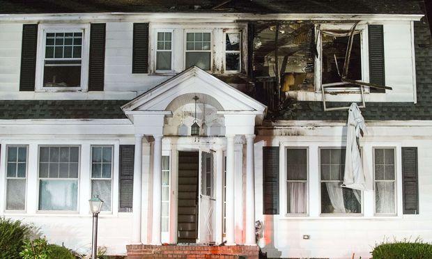 Eines der betroffenen Häuser in Boston.