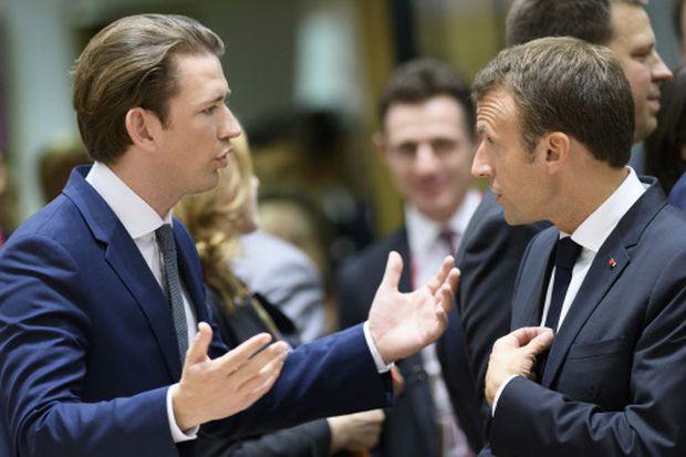 Kurz mit Macron auf dem EU-Gipfel in Brüssel Ende Juni.