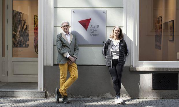 Margot und Michael Schmitz wollen mit ihrer Galerie im 1. Bezirk der Urban Art ein neues Publikum erschließen.