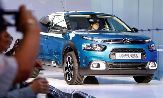 The new Citroen C4 Cactus II model arrives for a press presentation in Colombes near Paris